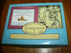 Vintage Winnie the Pooh Cookie Book Baking Set with Cookie Cutters / Recipe Book
