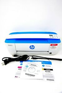 HP DeskJet 3755 Compact All-in-One Wireless Printer - Blue Accent (J9V90A)