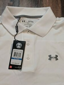 NEW - UNDER ARMOUR Golf Polo Men's Size XL Loose Heat Gear - NWT - White Shirt