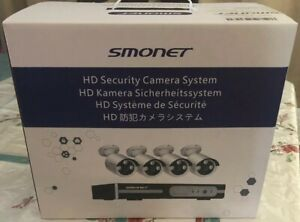 Smonet 4CH 720P HD NVR Wireless Security CCTV Surveillance Systems(WIFI NVR Kit)