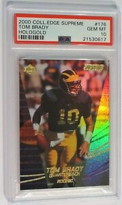 HoloGold S/N 06/20 PSA 10 (POP 2) Tom Brady Rookie 2000 Collector's Edge Supreme