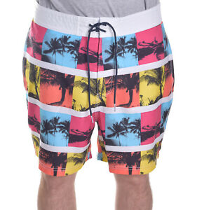 Nautica Mens $69.50 Palm Summer Beach Pic Frame Lined Board Shorts Choose Size