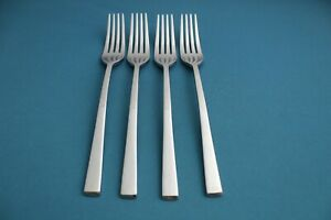 4 Dinner Forks Food Network CHIVE Stainless China 8 1/3