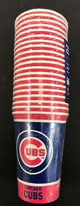 CHICAGO CUBS ~ Lot of (20) Disposable Paper Party Beer Drink Cups ~ New!