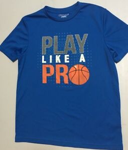 Authentic Champion Boy Blue Active Dry fit Shirt Play like a Pro size L $6.00