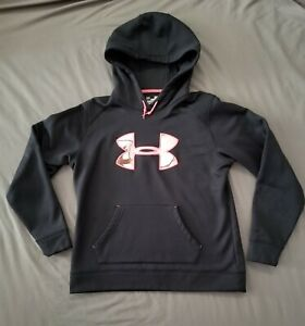 Under Armour Womens Size Medium Semi Fitted Camo Logo ColdGear Hoodie Sweater