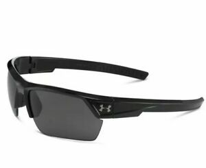 NEW Under Armour Igniter 2.0 Shiny Black  Gray 8600051 000100 Sunglasses