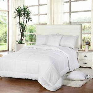 All Season Down Comforter Quilted Duvet Insert Box Style 250 GSM Utopia Bedding $19.98