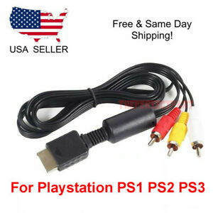 OEM 6FT RCA AV TV Audio Video Stereo Cable Cord For Playstation PS1 PS2 PS3 A V $3.85