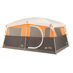 Coleman Jenny Lake Fast Pitch 8-Person Cabin With Closet OrangeGrey One Size