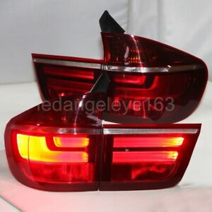 2007 2013 year LED rear lights for BMW X5 E70 LED strip Taillights red white $599.99