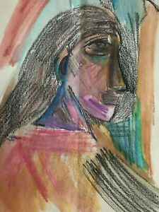 Picasso Original Watercolour Graphite Signed Painting
