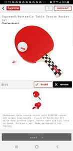 Supreme Butterfly Table Tennis Rare $275.00