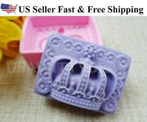 Crown DIY Handmade Soap Mold Silicone Molds US Seller