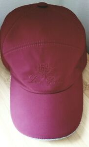 New Loro Piana Storm System Baseball Hat Cap Size L Burgundy color