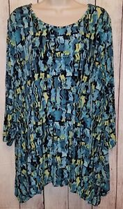 Womens Coldwater Creek Stretchy Slinky Travel Knit Blouse Top Shirt Size 2X