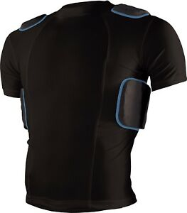 Sports Unlimited Adult 5 Pad Protective Football Shirt New