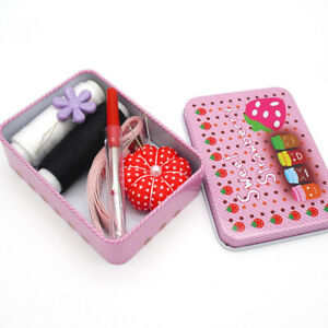 1 set Sewing Kits Box Needles Threads Multi function Home Travel Portable Tools $3.79