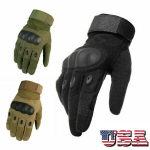 Army Military Combat Hunting Shooting Tactical Hard Knuckle Full Finger Glove