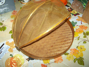 Vintage Wicker Dome 1950s Food Cover Bbq Picnic Deck  Party 12