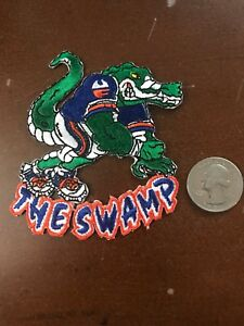 """UF Florida Gators Vintage Embroidered Iron On Patch 3.5"""" X 3"""" The Swamp"""