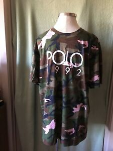 Mens Ralph Lauren Camo Camouflage T-Shirt Brown Green Black Pink NWT $69.50 XLT