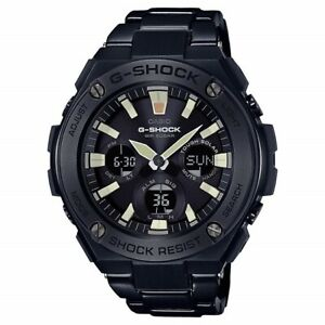 Casio G Shock GSTS130BD-1A Men's Solar Black Stainless Steel Bracelet Watch