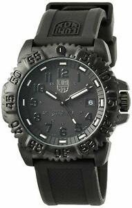 NEW Luminox Navy Seal Colormark Quartz Watch Carbon Black XS3051.BO.1.L