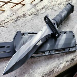13.5 Military Black Tactical Survival FIXED BLADE HUNTING Machete KNIFE Dagger