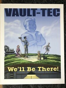 Fallout 3 Vault-Tec We'll Be There Lithograph Ultra Rare Mint 125250