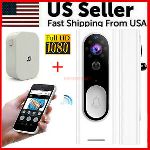 Two-Way Door Bell WiFi Wireless Video PIR Doorbell Talk Smart Security HD Camera