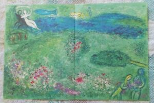 Marc Chagall quot; Daphnis and Chloe quot; The Orchard Large Color Lithograph 1977 $39.99
