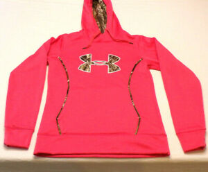 Under Armour Camo Pink Womens Hunting Hoodie Cold Gear storm 1 small