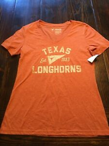 Texas Longhorns Football Women's NCAA Jersey Shirt Large New Great For The Game