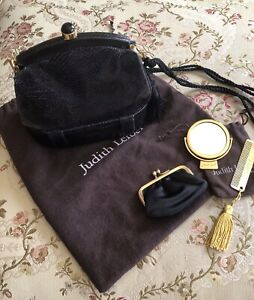 Judith Leiber Handbag In Black Lizard