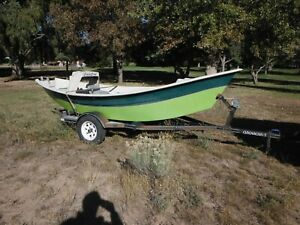 Clackacraft Drift Boat Dory and Trailer