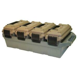 Mtm 4-can Ammo Crate Dark Earth-forest Green