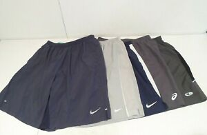 Lot of 5 Nike & Asics Men's Shorts Size XL Lined Dri-Fit Running Champion