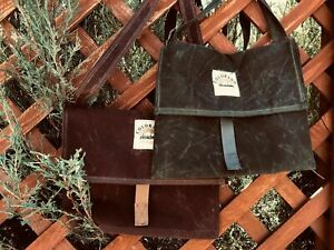 Handmade Waxed Canvas Bushcraft Mail Pouch Haversack Bag Foraging Hiking (Variou