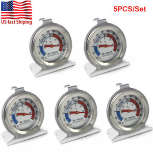 5x Stainless Steel Refrigerator Freezer Dial Type Thermometer Temp Meter Hang US