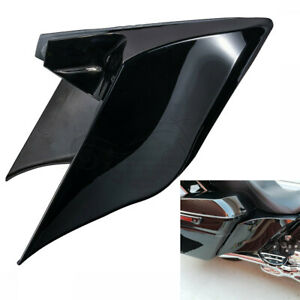 Vivid Black Stretched Extended Side Cover For Harley Road King Street Glid 14-19