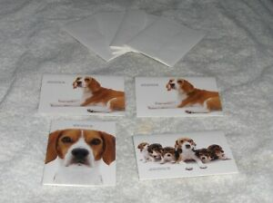 Artlist Breed Specific Dog Greeting Cards 4 Beagle Breed Note Cards amp; Envelopes