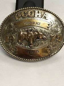 PCQHA 1975 3rd Place COLTS STERLING BUCKLE $175.00
