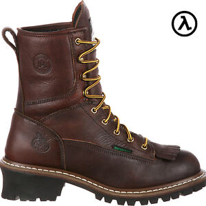 GEORGIA WATERPROOF 8quot; LOGGER BOOTS G7113 * ALL SIZES NEW