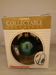 NOMA Vintage Collectible 1989 Ornamotion Rotating Ornament Peace on Earth NEW