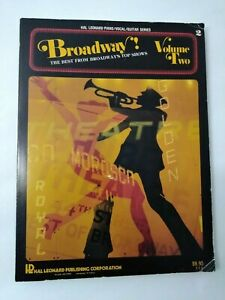 Broadway The Best From Broadway#x27;s Top Shows Vol. Two Piano Vocal Guitar Book $5.49