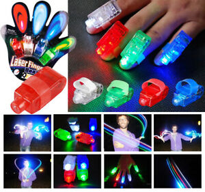 48 Finger Lights Beams Lamps Party Favors Laser Light Up Kids Gifts Glow Rings