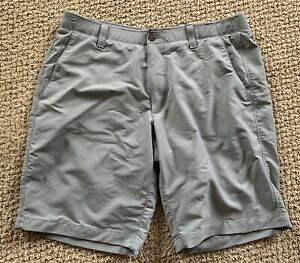 Mens Under Armour Gray Golf Shorts Size 36