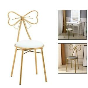 Vanity Stool Chair Gold Glam Dressing Room Make-up Padded Stool Bedroom Bathroom