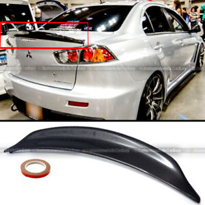 For 08-15 Lancer EVO X 10 Carbon Fiber RS Style Rear Duck Trunk Wing Lip Spoiler